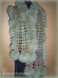 Шапочки, шарфы, накидки, шали зеленый (4)