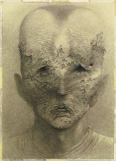 Zdzislaw Beksinski - Bocetos, dibujos y delirios [Arte] - Luciernaga Curiosa - Taringa! Scary Art, Weird Art, Creepy, Arte Horror, Horror Art, Gothic Art, Art Design, Surreal Art, Photomontage