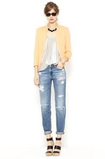 Womens Denim: Top 5 summer denim   Piperlime - Casual chic with a hint of California cool. Loving the vintage denim and the collarless blazer is a fresh weekend twist for spring.
