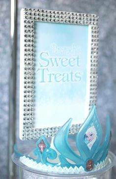 Trend Alert: Frozen Party {Sweets Table}  Party styling and printables by Soiree Event Design #bling #eventplanning