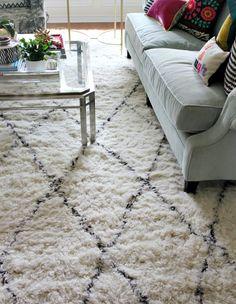 Moroccan Home Decor Shag Rugs Living Room Carpet, Bedroom Carpet, Rugs In Living Room, Moroccan Home Decor, Moroccan Rugs, Dark Carpet, Modern Carpet, Fluffy Rug, Rental Decorating