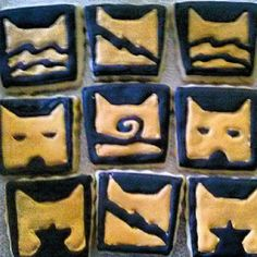 cat warrior cookies Cream Pies, Cat Cookies, Food Decorating, Cat Room, Cat Birthday, Cat Party, Warrior Cats, Warriors, Celebrations