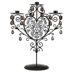 Disney Parks Halloween Haunted Mansion Black Metal Candelabra. We are using this as our unity candle holder!