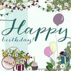 Happy Birthday Greeting Card Blank Inside 320