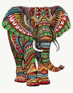 Grand panneau 140x185cm en tissage jacquard ELEPHANT : Tissus à thème par…
