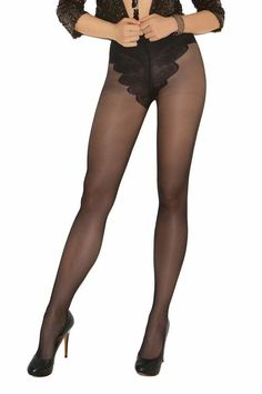 f8a4a2b2d64c7 French Cut Support Pantyhose Black New Women's One Size Hosiery 1715 Fashion