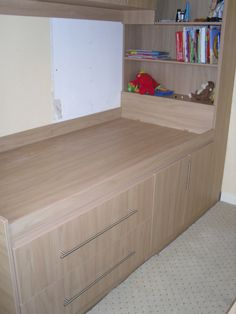 Bed built over stair box