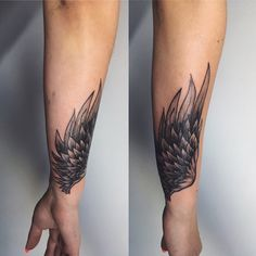 wing tattoo unterarm google suche tattoos pinterest. Black Bedroom Furniture Sets. Home Design Ideas