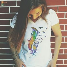 Check www.ro for more awesome tee's! T Shirt Painting, Painted Shoes, Tee Design, Cool Tees, New Product, Custom Design, Graphic Tees, How To Make, How To Wear