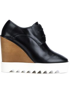 Stella Mccartney Zapatos De Cordones Con Cuña - Edon Manor - Farfetch.com