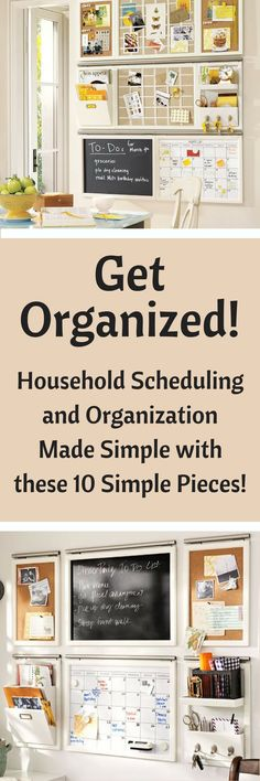 I love this organization system! I'm able to keep track of our family's appointments and activities, the bills, our keys, and leave sweet messages on the chalkboard! /getting organized/ Organize Your Life, Organizing Your Home, Organizing Tips, Cleaning Hacks, Clean House Schedule, Magnetic White Board, Home Management, Working Moms, Interior Design Services