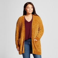 Bring a luxe layering piece to your wardrobe with the Chenille Cardigan from Ava & Viv™. The open style and dropped shoulders of this cardigan make it an easy layering piece to put over tees, button-down shirts and dresses. The extended length of this open cardigan, reaching right about mid-thigh, brings a bit of extra warmth that you'll really appreciate on those extra-chilly days.