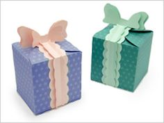 Cute paper gift box. Only, the instructions site is in a different language!