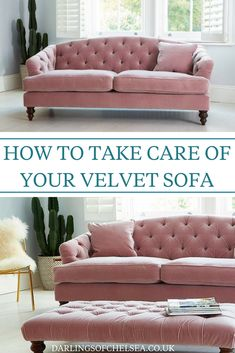 Bought a velvet sofa and want to know how to look after it? Or maybe you would like to invest in one but aren't sure how to maintain the velvet fabric? Check out our velvet sofa guide for more information, from Darlings of Chelsea, UK luxury sofa experts Living Room On A Budget, Living Room Storage, Living Room Sofa, Living Room Decor, Sofa Home, Luxury Sofa, Luxury Bedding, Sofa Design, Furniture