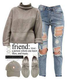 yeezy. by fuckedchanel on Polyvore featuring polyvore fashion style adidas Originals Forever 21 women's clothing women's fashion women female woman misses juniors