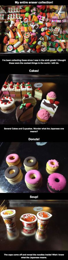 Collecting Food Shaped Erasers