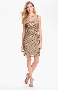 Pisarro Nights Beaded Tiered Mesh Dress available at Nordstrom ...