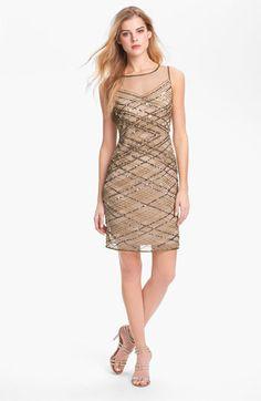 Adrianna Papell Matte Jersey Taffeta Dress