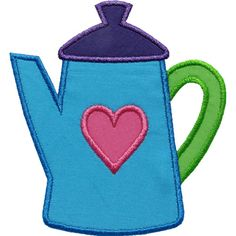 Coffee Pot Applique by HappyApplique.com