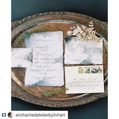 I can only take credit for the #handmadepaper - thanks to @juliehacalligraphy @samoffit and @enchantedatelierbylivhart for making it so beautiful! by m_spradley