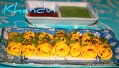 KHANDVI / SURALICHI WADI Taste Buds, Homemaking, Preserves, A Food, Catering, Vegetarian Recipes, Appetizers, Snacks, Cooking