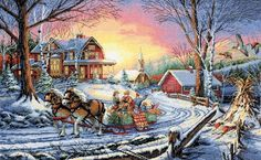 Amazon.com: Dimensions Counted Cross Stitch, Gold Collection Winter's Hush
