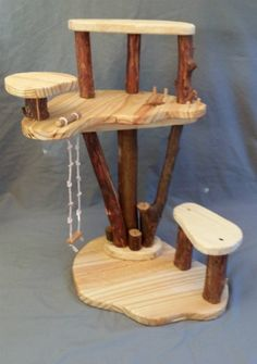 Natural Wood Modular Play Tree - a house for fairies, superheroes and anyone needing a great place to play!
