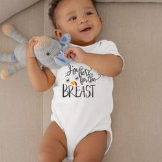 I'm Just Here for the Breast Cute Funny Thanksgiving Holiday Unisex Onesie® - Funny Outfit For Breastfeeding Babies to Celebate Thanksgiving Funny Baby Gifts, Funny Babies, Cute Babies, Gifts For New Parents, Funny Outfits, Baby Grows, Baby Bodysuit, Baby Onesie, Have Time