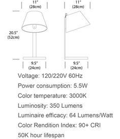 Pablo Lana Table Lamp | 2Modern Furniture & Lighting