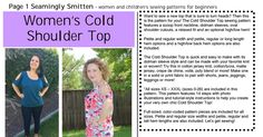 Womens Cold Shoulder Top by Seamingly Smitten XS-XXXL.pdf