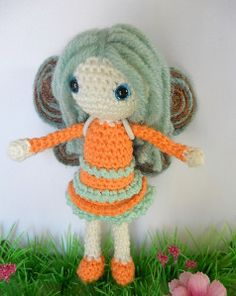 10/1/16 Doll with angel wings - links to free patterns