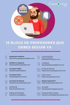 16 blogs de profesores que debes seguir YA