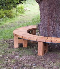 Curved Bench/ Oak Tree Seat/ Garden Furniture/ Garden Bench/ Rustic Furntiure