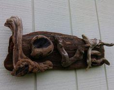 Beach Decor Driftwood Sculpture Driftwood Art by BurlgirlCreations