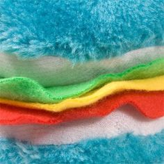 Plush Hamburger-Shaped Dog Toys