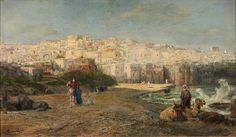 Paul Henri Tetar van Elven (1831-1908) - Jaffa, oil on canvas, 50 x 86 cm.