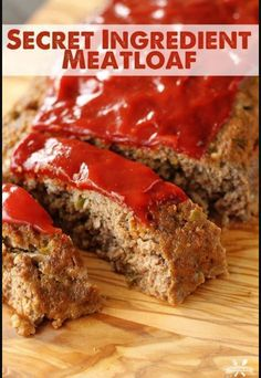 The secret ingredient in this Secret Ingredient meatloaf makes this one of the most flavorful meatloaves you'll eat! The secret ingredient in this Secret Ingredient meatloaf makes this one of the most flavorful meatloaves you'll eat! Good Meatloaf Recipe, Best Meatloaf, Meatloaf Recipes, Meat Recipes, Cooking Recipes, Recipes Dinner, Meatloaf Sandwich, Aloo Recipes, Quick Recipes