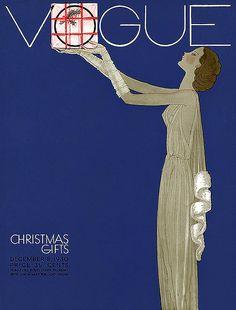 Vogue magazine Christmas cover, December 8, 1930 - 35 cents