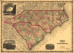 North and South Carolina Map we have travel from north to south and east to west ...
