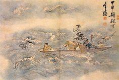 (Korea) Boating by Shim Sa-jeong (1707 - 1769). ca 18th century CE.