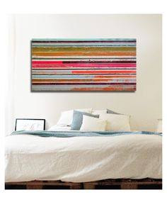 """Popart Multiple Neon Striped - 466"" by Ronald  Hunter. This original abstract painting is full of colour and comes from Ronald's collection on FineArtSeen. Click to view more art at great prices from the Home Of Original Art. >"