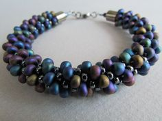 Magatama kumihimo style bracelet