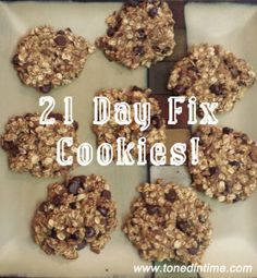Who said cleaning up your diet meant you couldn't indulge? These cookies have tasty ingredients like chocolate and pecans without all of the added fats and sugars that other cookies contain. The best part? They're 21 Day Fix friendly! The 21 Day Fix allows you to trade in three of your yellow containers each week for approved treats. So …