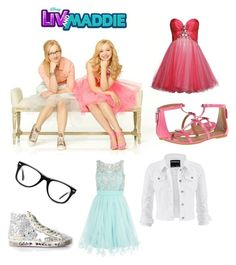 """""""Liv and Maddie/ Dove Cameron"""" by madeleineunicorn ❤ liked on Polyvore featuring Muse, Golden Goose, Quiz, maurices, Luxuar, Marc by Marc Jacobs, women's clothing, women, female and woman"""