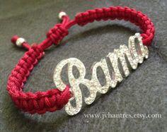 Alabama Crimson Tide Football Game Day Bracelet Qty -1
