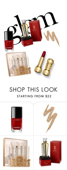 """holiday party make up"" by evagelialove on Polyvore featuring beauty, Naeem Khan, Chanel, Urban Decay, Sephora Collection and Cartier"