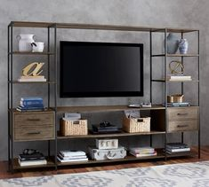 Ramsey Large Entertainment Center | Pottery Barn
