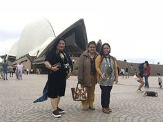 This is one of the family pictures of my family & I in front of the Sydney Opera House before seeing a show in the Opera House's studio.