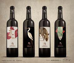 """Illustrations for Label wine """"tenuta Mora Bassa"""" s.r.l"""