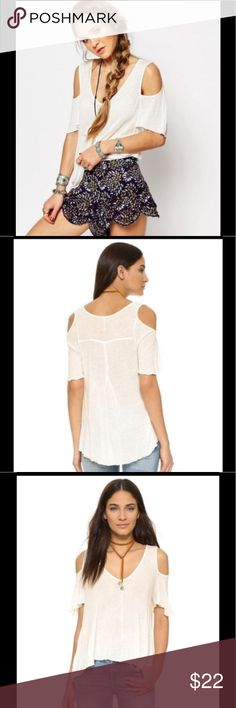 """Free People Bittersweet Cold Shoulder Top New with tags. Free People """"Bittersweet"""" cold shoulder top. Women's size medium in ivory. Free People Tops"""